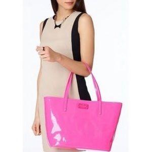Kate Spade Metro Harmony Neon Pink Tote Bag